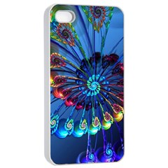 Top Peacock Feathers Apple iPhone 4/4s Seamless Case (White)