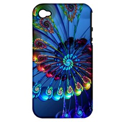 Top Peacock Feathers Apple iPhone 4/4S Hardshell Case (PC+Silicone)