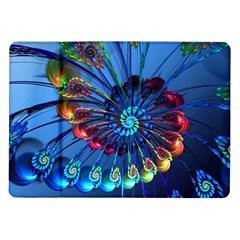 Top Peacock Feathers Samsung Galaxy Tab 10.1  P7500 Flip Case
