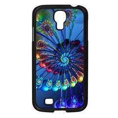 Top Peacock Feathers Samsung Galaxy S4 I9500/ I9505 Case (Black)