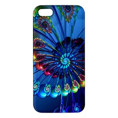 Top Peacock Feathers iPhone 5S/ SE Premium Hardshell Case