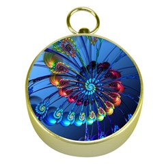 Top Peacock Feathers Gold Compasses