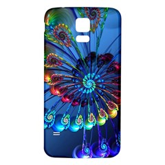Top Peacock Feathers Samsung Galaxy S5 Back Case (White)