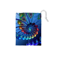 Top Peacock Feathers Drawstring Pouches (Small)