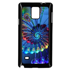 Top Peacock Feathers Samsung Galaxy Note 4 Case (Black)