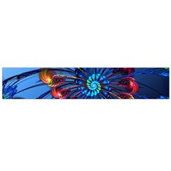 Top Peacock Feathers Flano Scarf (Large)