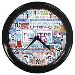 Book Collage Based On Confess Wall Clocks (Black)
