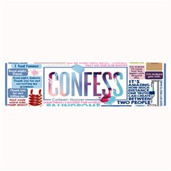 Book Collage Based On Confess Large Bar Mats
