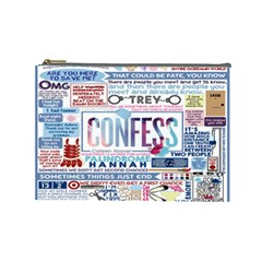 Book Collage Based On Confess Cosmetic Bag (Large)