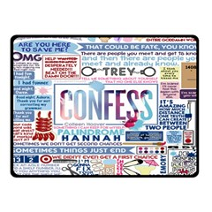 Book Collage Based On Confess Fleece Blanket (Small)