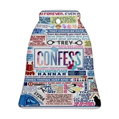 Book Collage Based On Confess Bell Ornament (Two Sides)