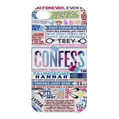 Book Collage Based On Confess Apple iPhone 4/4S Premium Hardshell Case
