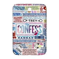 Book Collage Based On Confess Samsung Galaxy Note 8.0 N5100 Hardshell Case