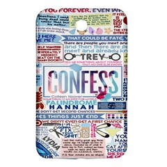 Book Collage Based On Confess Samsung Galaxy Tab 3 (7 ) P3200 Hardshell Case