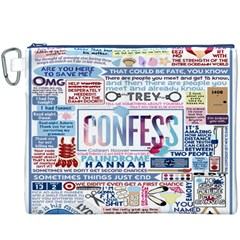 Book Collage Based On Confess Canvas Cosmetic Bag (XXXL)