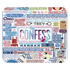 Book Collage Based On Confess Double Sided Flano Blanket (Small)