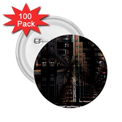 Black technology Circuit Board Electronic Computer 2.25  Buttons (100 pack)