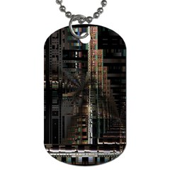 Black technology Circuit Board Electronic Computer Dog Tag (One Side)