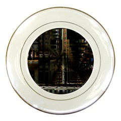 Black technology Circuit Board Electronic Computer Porcelain Plates