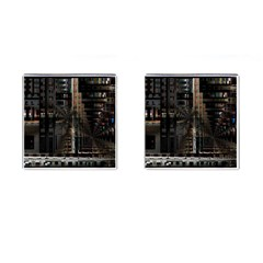 Black technology Circuit Board Electronic Computer Cufflinks (Square)