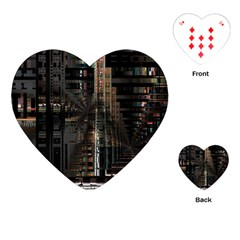 Black technology Circuit Board Electronic Computer Playing Cards (Heart)