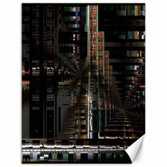 Black technology Circuit Board Electronic Computer Canvas 12  x 16