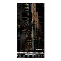 Black technology Circuit Board Electronic Computer Shower Curtain 36  x 72  (Stall)