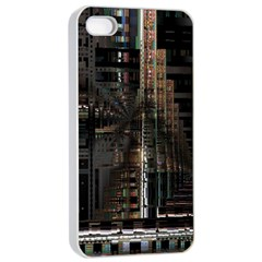 Black technology Circuit Board Electronic Computer Apple iPhone 4/4s Seamless Case (White)