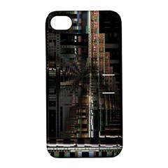 Black technology Circuit Board Electronic Computer Apple iPhone 4/4S Hardshell Case with Stand