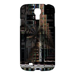 Black technology Circuit Board Electronic Computer Samsung Galaxy S4 I9500/I9505 Hardshell Case