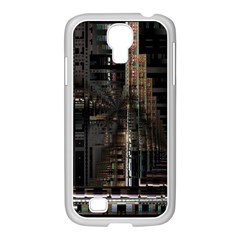 Black technology Circuit Board Electronic Computer Samsung GALAXY S4 I9500/ I9505 Case (White)