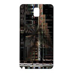 Black technology Circuit Board Electronic Computer Samsung Galaxy Note 3 N9005 Hardshell Back Case
