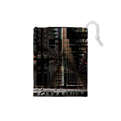 Black technology Circuit Board Electronic Computer Drawstring Pouches (Small)
