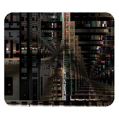 Black technology Circuit Board Electronic Computer Double Sided Flano Blanket (Small)