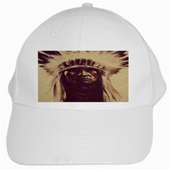 Indian Apache White Cap