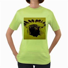 Indian Apache Women s Green T-Shirt