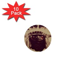 Indian Apache 1  Mini Buttons (10 pack)