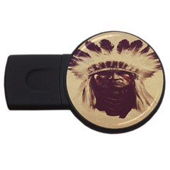 Indian Apache USB Flash Drive Round (2 GB)
