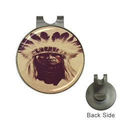 Indian Apache Hat Clips with Golf Markers