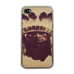 Indian Apache Apple iPhone 4 Case (Clear)