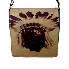 Indian Apache Flap Messenger Bag (L)
