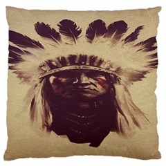 Indian Apache Large Flano Cushion Case (Two Sides)