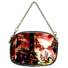 Fantasy Art Story Lodge Girl Rabbits Flowers Chain Purses (One Side)