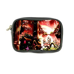 Fantasy Art Story Lodge Girl Rabbits Flowers Coin Purse