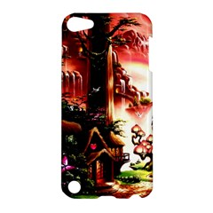 Fantasy Art Story Lodge Girl Rabbits Flowers Apple iPod Touch 5 Hardshell Case