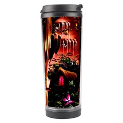 Fantasy Art Story Lodge Girl Rabbits Flowers Travel Tumbler