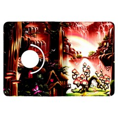 Fantasy Art Story Lodge Girl Rabbits Flowers Kindle Fire HDX Flip 360 Case