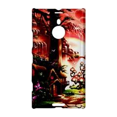 Fantasy Art Story Lodge Girl Rabbits Flowers Nokia Lumia 1520