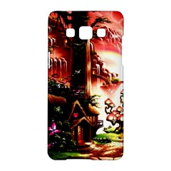 Fantasy Art Story Lodge Girl Rabbits Flowers Samsung Galaxy A5 Hardshell Case