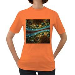 Fractal Snake Skin Women s Dark T-Shirt